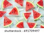 watermelon. selective focus.     Shutterstock . vector #691709497