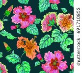 seamless watercolor pattern of... | Shutterstock . vector #691710853