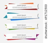 business banner for web design  ... | Shutterstock .eps vector #691712503