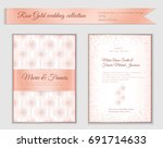 luxury wedding invitation... | Shutterstock .eps vector #691714633
