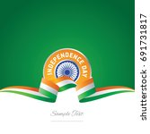 india independence day ribbon... | Shutterstock .eps vector #691731817