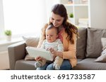 family  technology and... | Shutterstock . vector #691733587