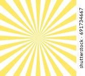 abstract yellow sun rays... | Shutterstock .eps vector #691734667