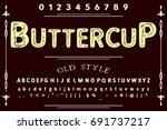 vintage font alphabet...   Shutterstock .eps vector #691737217