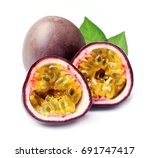 passion fruit closeup on white... | Shutterstock . vector #691747417