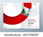 brochure template layout design.... | Shutterstock .eps vector #691758187