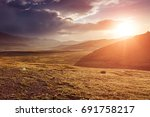 majestic sunset at mountain... | Shutterstock . vector #691758217