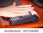 modern payment with new... | Shutterstock . vector #691766383
