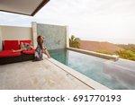 love couple in luxury villa... | Shutterstock . vector #691770193