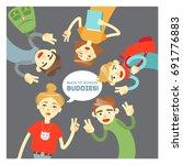 """back to school  buddies ""...   Shutterstock .eps vector #691776883"