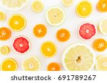 Citrus Fruit Pattern Made Of...