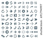 arrow icon set   vector... | Shutterstock .eps vector #691794997