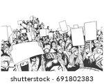 illustration of high school... | Shutterstock .eps vector #691802383