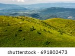 Grassy Meadow On Hillside In...