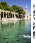 Small photo of The Pool of Abraham with sacred carp in Sanliurfa, Turkey.