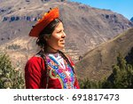 Native Peruvian Girl With Her...