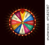 vector modern fortune wheel on... | Shutterstock .eps vector #691825387