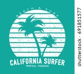 california surfer typography...