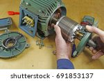 three phase induction   motor... | Shutterstock . vector #691853137