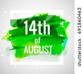 14th of august .pakistan... | Shutterstock .eps vector #691860463