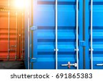 close up industrial logistics... | Shutterstock . vector #691865383
