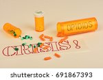 signs and symbols of the opioid ... | Shutterstock . vector #691867393