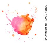 colorful abstract watercolor... | Shutterstock .eps vector #691871803