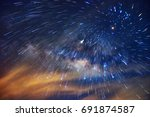 detail from the milky way and... | Shutterstock . vector #691874587