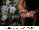 selective focus hands of... | Shutterstock . vector #691879087