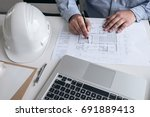 engineering or creative... | Shutterstock . vector #691889413
