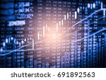 stock market trading graph and... | Shutterstock . vector #691892563