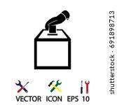 vote ballot icon  vector best... | Shutterstock .eps vector #691898713