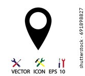 internet icon  vector best flat ... | Shutterstock .eps vector #691898827