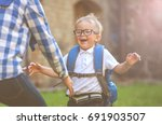 mother and son. happy smile... | Shutterstock . vector #691903507
