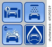 four variants car wash icons... | Shutterstock .eps vector #69190519