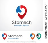 stomach logo template design... | Shutterstock .eps vector #691916497