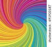 vortex vector colorful rainbow... | Shutterstock .eps vector #691920187