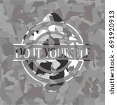 do it yourself grey camouflaged ... | Shutterstock .eps vector #691920913