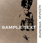 vector template. the stylish... | Shutterstock .eps vector #69192274