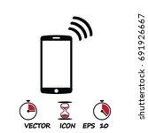 mobile smartphone icon  stock... | Shutterstock .eps vector #691926667