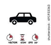 car icon  stock vector... | Shutterstock .eps vector #691933363