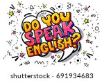 concept of studying english or... | Shutterstock .eps vector #691934683