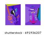 colorful international jazz... | Shutterstock .eps vector #691936207