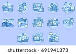 euro currency conceptual design | Shutterstock .eps vector #691941373