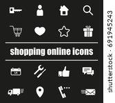 set of shopping online icons. e ...   Shutterstock .eps vector #691945243