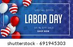 labor day sale promotion... | Shutterstock .eps vector #691945303