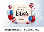 labor day sale promotion... | Shutterstock .eps vector #691960753