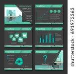 blue elements for infographics...   Shutterstock .eps vector #691972363
