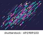 colorful stripes abstract... | Shutterstock .eps vector #691989103