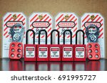 lock out   tag out   lockout... | Shutterstock . vector #691995727